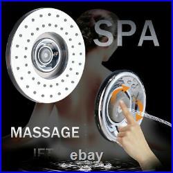 Black Shower Panel System LED Rain&Waterfall Tower Massage Body Jets Tub Taps