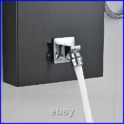 Black Shower Panel Tower Rain Waterfall Massage Body System Jet Tub Spout Tap