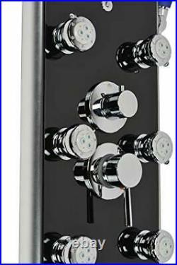 Blue Ocean 52 Aluminum SP787392B Shower Panel Tower with Rainfall Shower