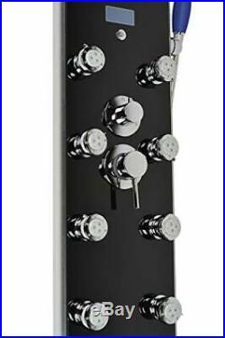 Blue Ocean 52 Aluminum SP787392B Shower Panel Tower with Rainfall Shower Head