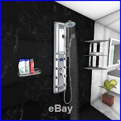 Blue Ocean 52 Aluminum SPA33D Shower Panel Tower with Rainfall Shower Head, 8