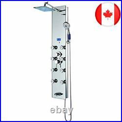 Blue Ocean 52 Aluminum SPA392M Shower Panel Tower with Rainfall Shower Head