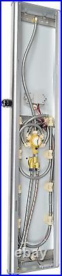 Blue Ocean 52 Aluminum SPA392M Shower Panel Tower with Rainfall Shower Head, 8
