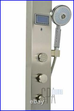 Blue Ocean 59 Stainless Steel SPS851 Shower Panel Tower with Rainfall Shower