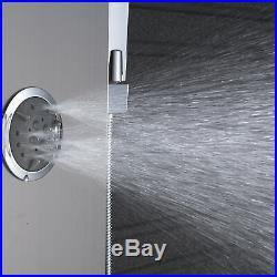 Brushed Nickel Shower Panel Column Tower Spa Jets Hand Shower Complete Combo Kit