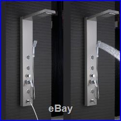 Brushed Nickel Shower Panel Tower System Rain&Waterfall Massager Body Jet Taps