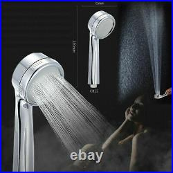 Brushed Nickel Shower panel Tower system LED Waterfall Rainfall Head Massage Jet