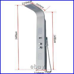 Design Shower Panel Shower Column Rain Shower Set Stainless Steel Silver