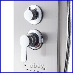 Design Stainless Steel Shower Panel Shower Column Silver Rain Shower Set