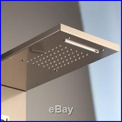 Digital Display Rain Shower Panel Column Massage Jet Hand Shower Faucet Unit Set