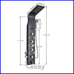 ELLO&ALLO LED Shower Panel Rain&Waterfall Tower Massage System Bidet Sprayer Tap