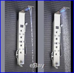 ELLO&ALLO LED Shower Panel Tower Rain Waterfall Massage Body System Jets