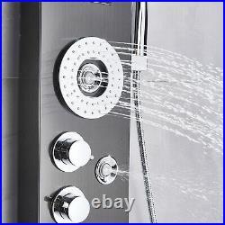 ELLO&ALLO LED Shower Panel Tower Rain Waterfall Massage System Body Jet Sprayer