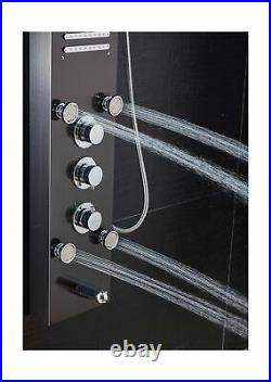 ELLO&ALLO LED Shower Panel Tower System Hydroelectricity Display Rain Massage