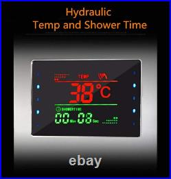 ELLO&ALLO LED Shower Panel Tower System, Hydroelectricity Display Rain Massage