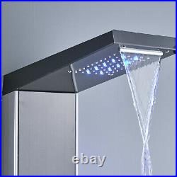 ELLO&ALLO LED Shower Panel Tower System Rainfall Waterfall Shower Faucet Fixture