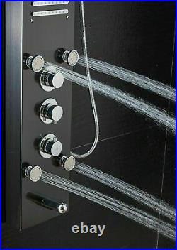 ELLO&ALLO Led Rainfall Waterfall Shower Panel Tower Rain Massage Body System Jet