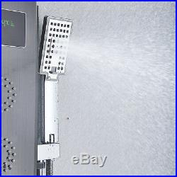 ELLO&ALLO Oil Rubbed Bronze LED Shower Panel Stainless Steel Rainfall Tower