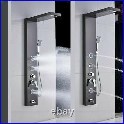 ELLO&ALLO Oil Rubbed Bronze Shower Panel Tower System Rainfall Massage Body Jets