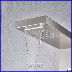 ELLO&ALLO Rainfall Thermostatic Shower Panel Tower Rain Massage Body System Jet