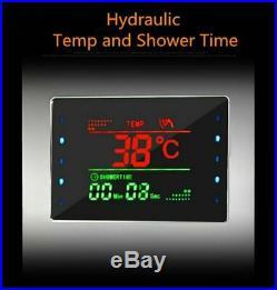 ELLO&ALLO Rainfall Waterfall LED Shower Panel Tower Rain Massage System Body Jet