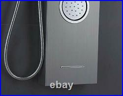 ELLO&ALLO Shower Panel System Tower with Shelf LED Rainfall and Mist Head Rai