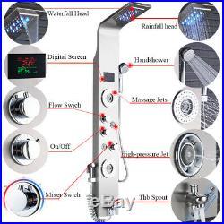 ELLO&ALLO Shower Panel Tower LED Rain&Waterfall Massage Body System Jets Sprayer