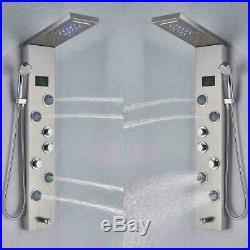 ELLO&ALLO Shower Panel Tower LED Rain&Waterfall Massage Full Body System Jets