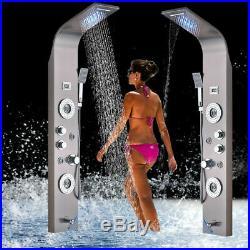 ELLO&ALLO Shower Panel Tower LED Rain&Waterfall Massager Body System Jet Sprayer