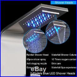 ELLO&ALLO Shower Panel Tower LED Rain&Waterfall Massager Body System Sprayer
