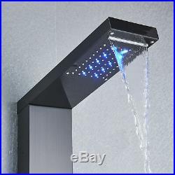 ELLO&ALLO Shower Panel Tower LED Rainfall Waterfall Massage System Body Jets