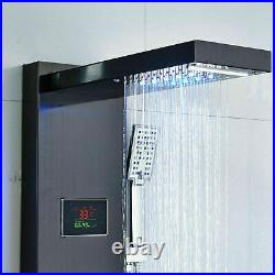 ELLO&ALLO Shower Panel Tower LED With Massage System Body Sprayer Jets Tub Spout
