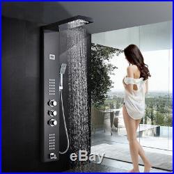 ELLO&ALLO Shower Panel Tower System Raifall Waterfall Massage Body Jet Tub Spous