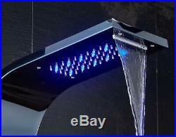 ELLO&ALLO Stainless Steel LED Shower Panel Tower Rain Massage Body Jets System