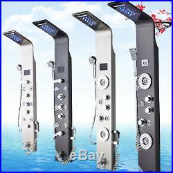 ELLO&ALLO Stainless Steel Shower Panel Rain&Waterfall Tower Massage System