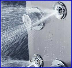 = ELLO&ALLO Stainless Steel Shower Panel Tower System LED Rainfall 32! 21