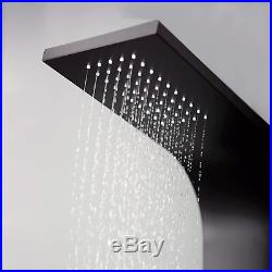 Elbe Shower Column Panel Tower with Mixer tap, 6 Massage Jets, Mixer Shower with