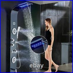 Ello&Allo Shower Panel Tower LED Rain Waterfall Massage System Bodys Jets