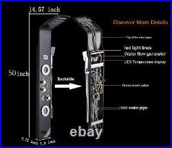 Ello&Allo Shower Panel Tower LED Rainfall Oil Rubbed Bronze Black