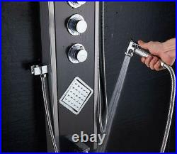 Ello&Allo Shower Panel Tower LED Rainfall Waterfall Massage System with Body Jet