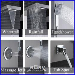 Ello&Allo Stainless Steel Shower Panel Tower Rain Waterfall Massage System