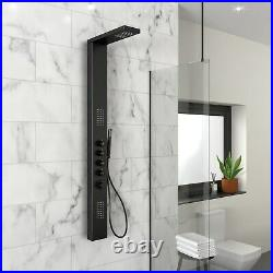 GRADE A2 Black Thermostatic Shower Tower Panel Provo