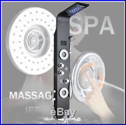 Hydraulic LED Shower Panel Column Bathroom Tower Massage Jets Mixer Vavle Unit