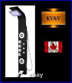 KV&V Blue Morpho 2027B BLACK LED Shower Panel Tower Column Superior Quality