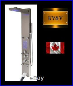 KV&V THERMOSTATIC 2024NT LED Shower Panel Tower Column System Superior Quality