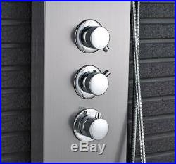 LCD Thermostatic Shower Panel Bathroom Column Tower Complete System Mixer Unit