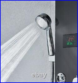 LED 5 Ways Shower Panel Column Tower Massage Jet Hand Shower Set Mixer Taps