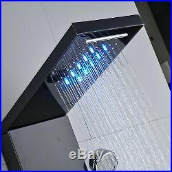 LED Bathroom Shower Column Panel Massage Body Jets Tower 5 in 1 Complete System