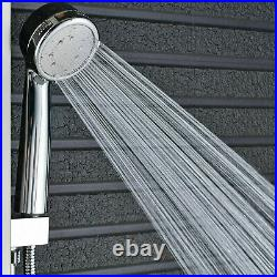 LED Brushed Nickel Shower Panel Tower Rain&Waterfall Massage Body System Jets