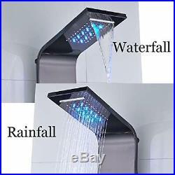 LED Digital Display Bathroom Shower Panel Tower Shower Column Masssage System